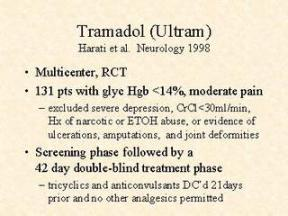 Why is tramadol prescribed
